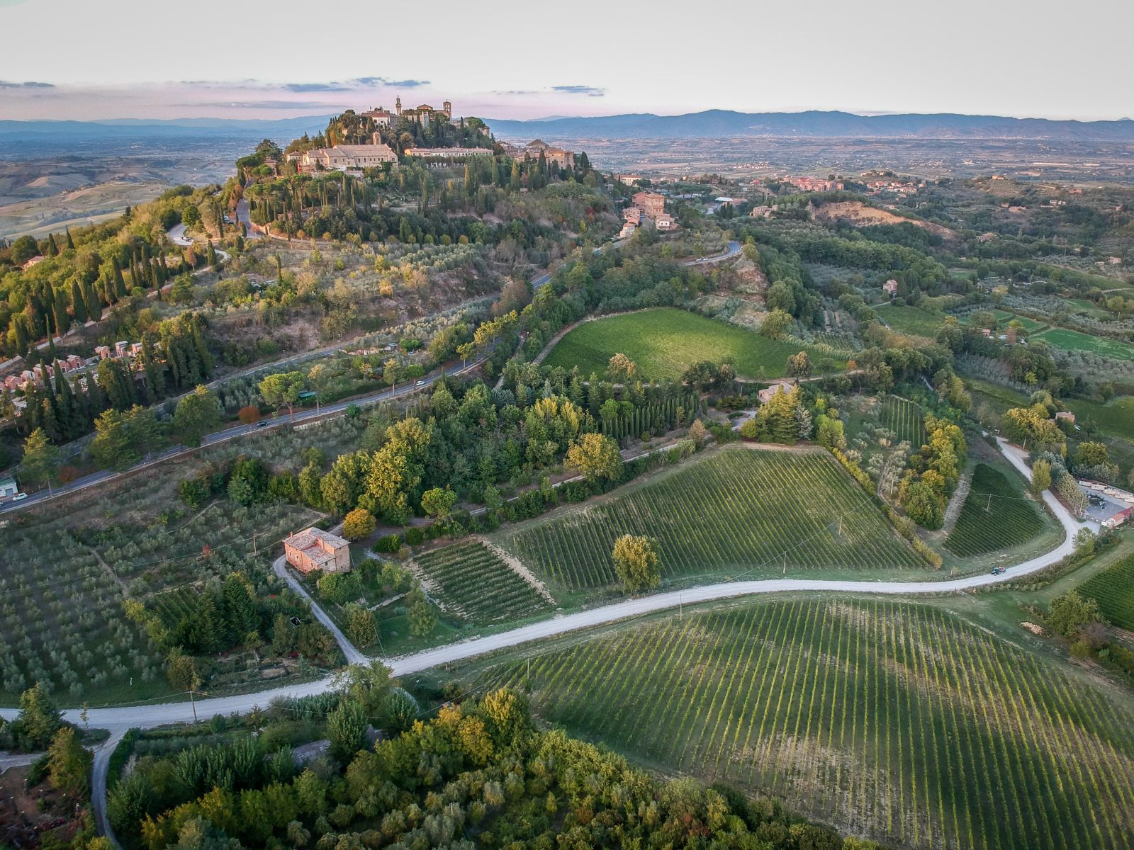 Montepulciano, from the back