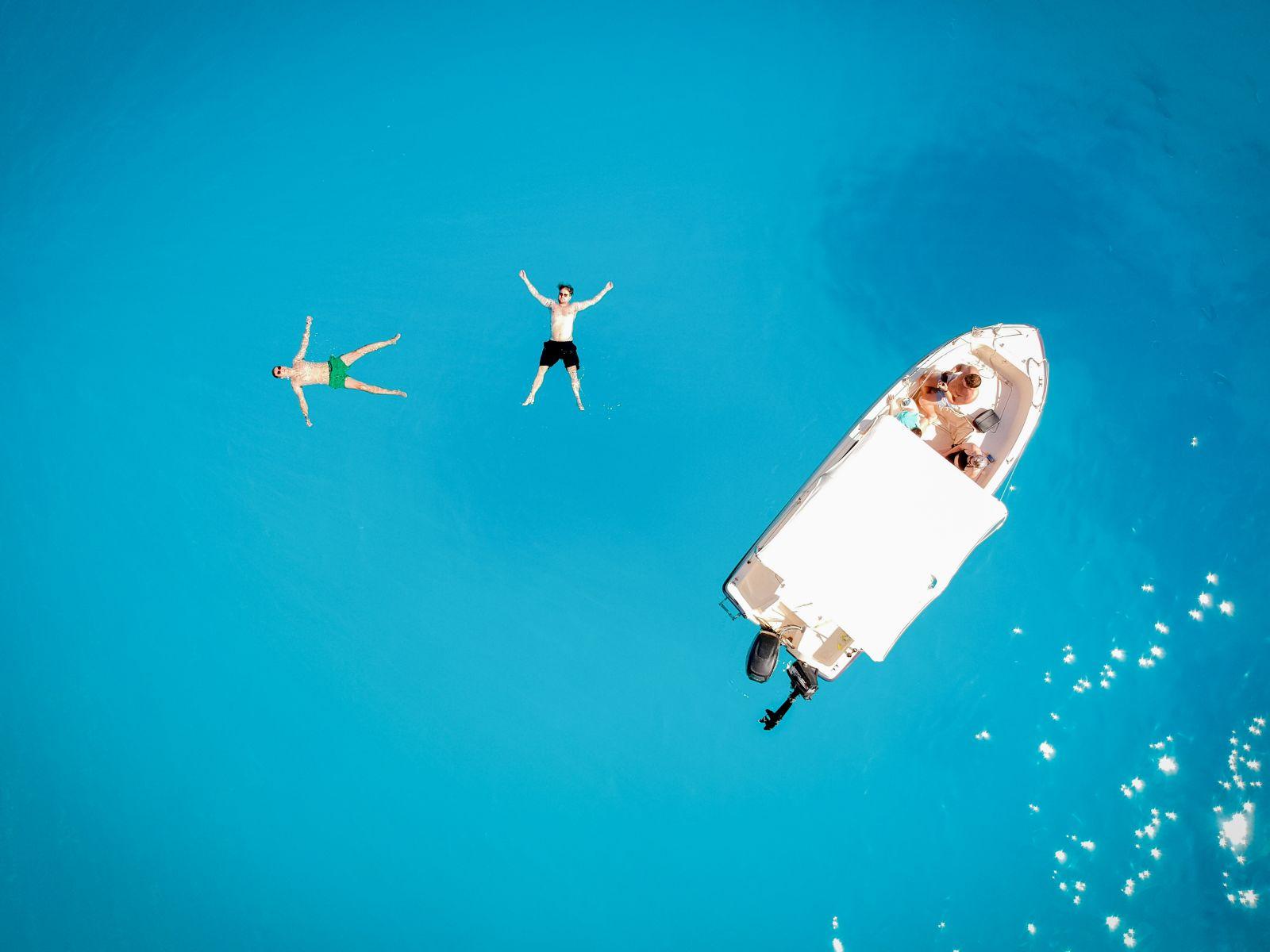 Wes & Gareth, floating at Shipwreck beach