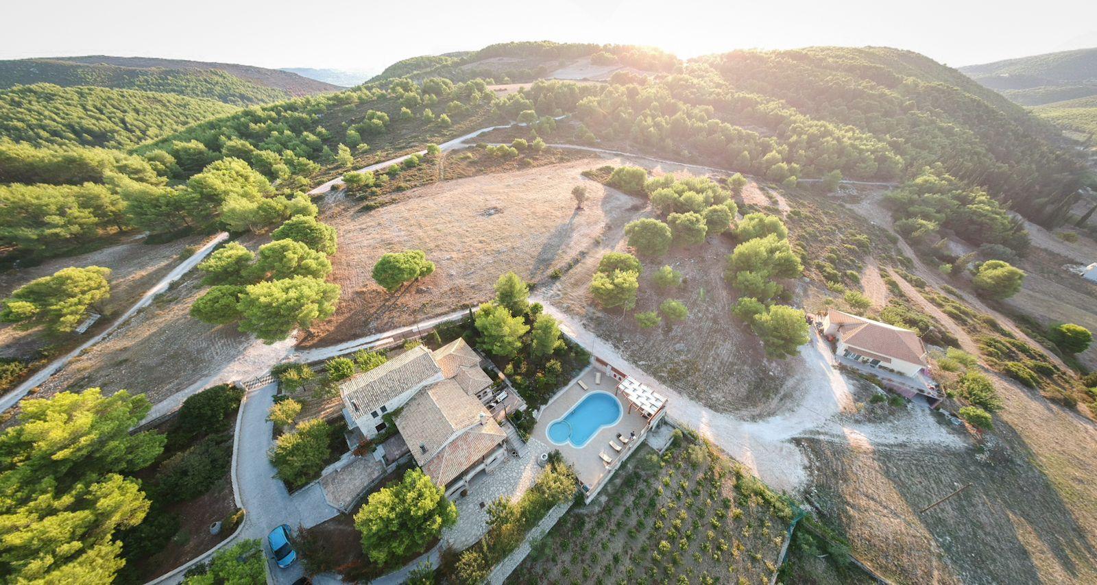 Villa Zakynthos, drone pano
